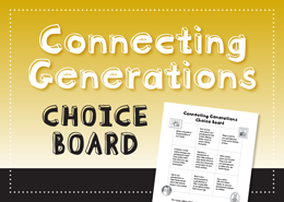 Connecting Generations Choice Board