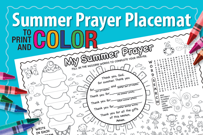 Summer Prayer Placemat