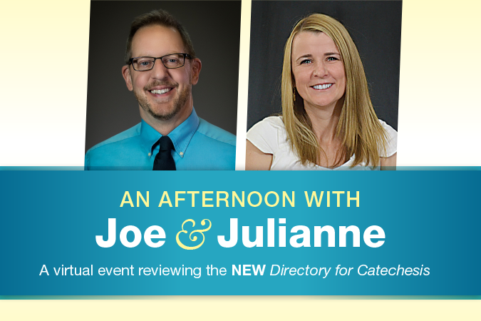 New Directory for Catechesis Event with Joe Paprocki and Julianne Stanz (photos of the two presenters)