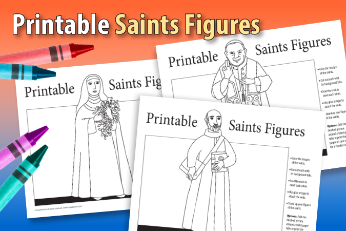Printable Saints Figures