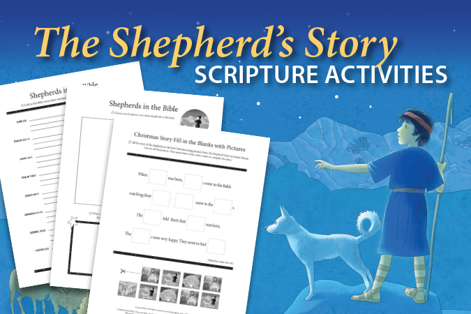 The Shepherd's Story Scripture Activities