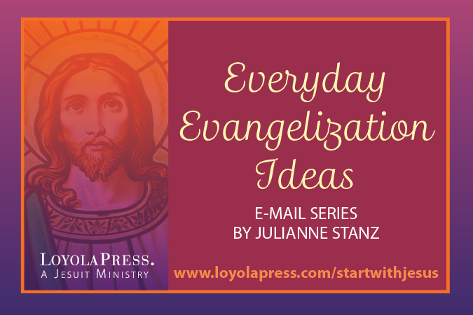 Everyday Evangelization Ideas - art for e-mail series by Julianne Stanz