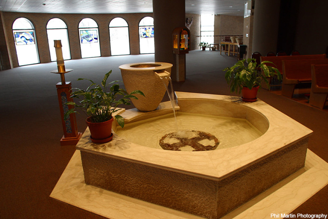 baptismal font - Phil Martin Photography
