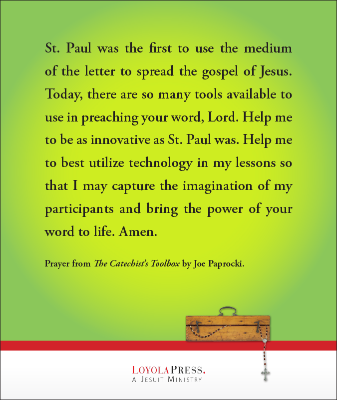 """Prayer from """"The Catechist's Toolbox"""" by Joe Paprocki"""
