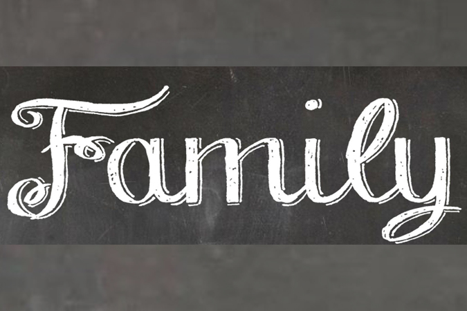"""word """"family"""" written out on a chalkboard backgroud - image by Oberholster Venita from Pixabay"""