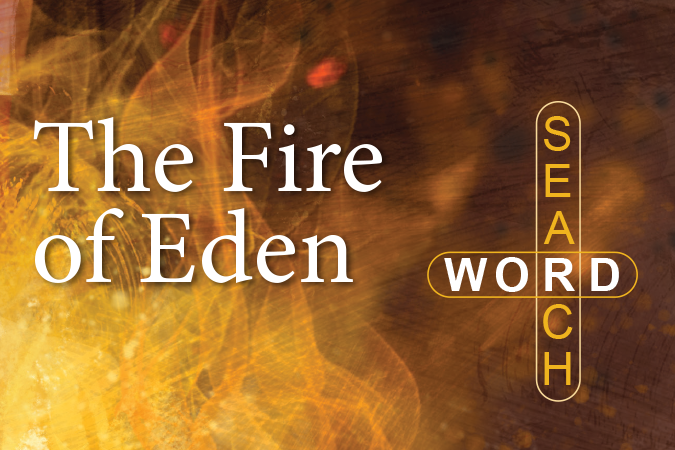 The Fire of Eden Word Search - game to accompany the Harwood Mysteries