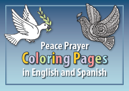 Peace Prayer Coloring Pages